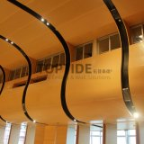 Curved Acoustic Aluminum / Aluminium Wood Wall Ceiling Covering Panel Board