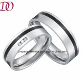 Black Enamel Surgical Steel Rings Pair Hot Sale Top Quality Love Rings