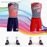 Stitch and Printed Knitted Fabric Multiple Designs America Pattern Basketball Garment