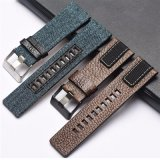 Vintage Square Tail Genuine Calf Leather Watch Strap