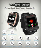 RF-V36 GPS Watch GPS Tracker GPS Lbs WiFi Tracking Heart Beat&Blood Pressure&Seedntariness Reminder Two-Way Talk Free Web & APP