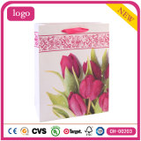 Pink Tulip Fashion Art Coated Gift Paper Bags