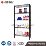 Beauty Salon or Bathroom Used 5 Shelf Black Epoxy Coated Metal Storage Wire Rack Unit for Sale