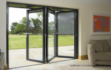 Contemporary Look Patio Aluminium Folding Doors for Exterior Balcony