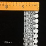 4.5cm Wholesale Polyester Jacquard Stretch Lace Fabric with Geometric Sunflower Hmw6239