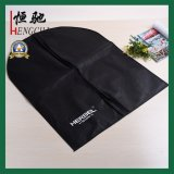 Simple Style Zippered Black Printed Non Woven Garment Bag