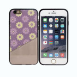 Flowers PU Paste TPU Mobile Phone Case for iPhone