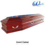 Popular Best Seller Wooden Coffin with Interior