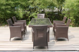 Aluminum Tube Wicker Table and Chairs Outdoor Furniture (FS-2062+ FS-2063)