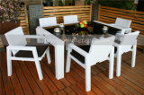 Modern Outdoor Wicker Rattan Dining Set 6-Seat (MTC-043)