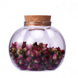 Creative Design Glass Jar Flower Shape Glass Jar Pumpkin Jars