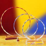 Sunflower Cheap Blank Clear Crystal Trophy Glass Award