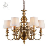 Hot Sale Iron Chandelier with Fabric Shade (SL2091-6)