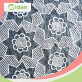 Eco Friendly White Embroidery Pleated Organza Fabric