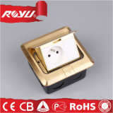 Pop-up Type French Module Copper Alloy Waterproof Floor Outlet