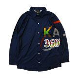 Healong Heat Printed Long Sleeve Polyester Polo Shirt