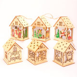 Resin Miniature House Furniture LED House Decorate Creative Christmas Gifts New Year Home Decor Navidad Accessories