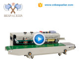 Bespacker FRD-1000-2 Ink wheel date printed plastic PVC bag automatic continuous band sealing sealer machine