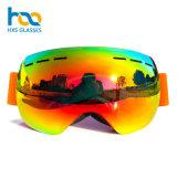 Wholesale Brand Skating Ski Googles Anti Fog Lens Snow Eyeglasses with Anti-Slip Silicone