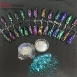 White Translucent Rainbow Effect Chameleon Flakes Chromaflakes for Nail Art