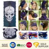 Wholesale Cheap Custom Logo Multifunctional Seamless Polyester Fleece Skull Magic Young Girl Tube Silk Scarf