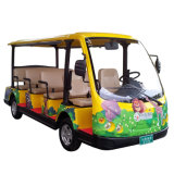 Steel Frame Electric Sightseeing Bus Golf Cart Shuttle 30km/H Maximum Travel Speed