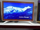 "32"" Slim Eled TV with Tempered Glass Apple Design"