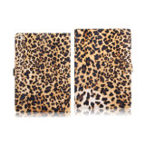 Leopard Print Pattern Leather Case Wallet Case for iPad Air 2