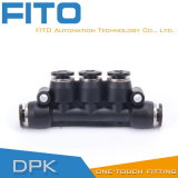5-Way Plastic Black Coupler for Tube Connection