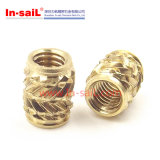 Brass Threaded Insert Knurled Nut of Fitting Parts