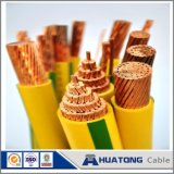 Low Voltage 450/750V Copper Conductor PVC / XLPE Insulated Yellow Green Earth Wire Electric Wire