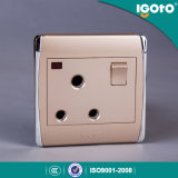 Igoto -New Style Different Colors BS Standard/ Biritish Standard 15A Switched Socket with Neon