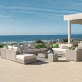 Outdoor Rattan Sofa Simple Courtyard Tea Table Combination Romantic Leisure Rattan Chair Furniture