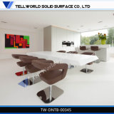 New Design Luxury Solid Surface Dining Table and Chairs Home Furniture Design