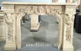 Nature Marble Fireplace Sculpture for Indoor Decoration