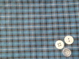 Turquoise/Black Pattern Small Checks Yarn Dyed Textile Fabric