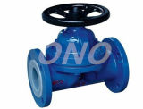 Casting Iron Flange Connect Rubber Lined Diaphragm Valve