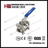 Stainless Steel Industrial Manual 1PC/2PC/3PC Full Port Floating Water Ball Valve Wog (HW-BV 3002)