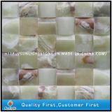 Yellow White Onyx Stone Marble Mosaic Wall Tiles for Room Decoration