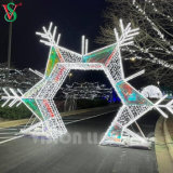 Outdoor Garden Decorations Christmas 3D Arch Motif LED Acrylic Lights