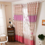 Countryside Style Print Curtain New Flower Curtain (KS-155)