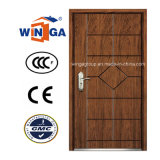 Popular Color Security Steel MDF Veneer Wood Armored Door (W-A-10)