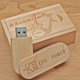 Cheap Bulk Memory USB 128MB Disk Wooden USB Flash Drive Wood with Packing as Wedding Gifts