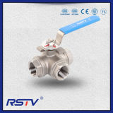 Floating Stainless Steel Thread 3 Way Ball Valve (T/L port)