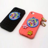 High Quality Plastic Promotional Gift Silicon for iPhone Cases (IP-052)