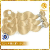Full Cuticle 100% Virgin Remy Human Hair Russia Blonde Hair Weft