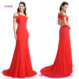 Formal Evening Dress Trumpet Mermaid Straps Sweep Brush Train