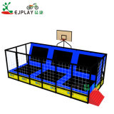 Wholesale Children Play Center Rectangle Bungee Trampolines with Basketball Hoop