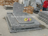 Spray White / Sea Wave Granite European Memorial Tombstone for Cemetery