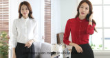 Chiffon Ladies Ruffle Collar Office Shirt